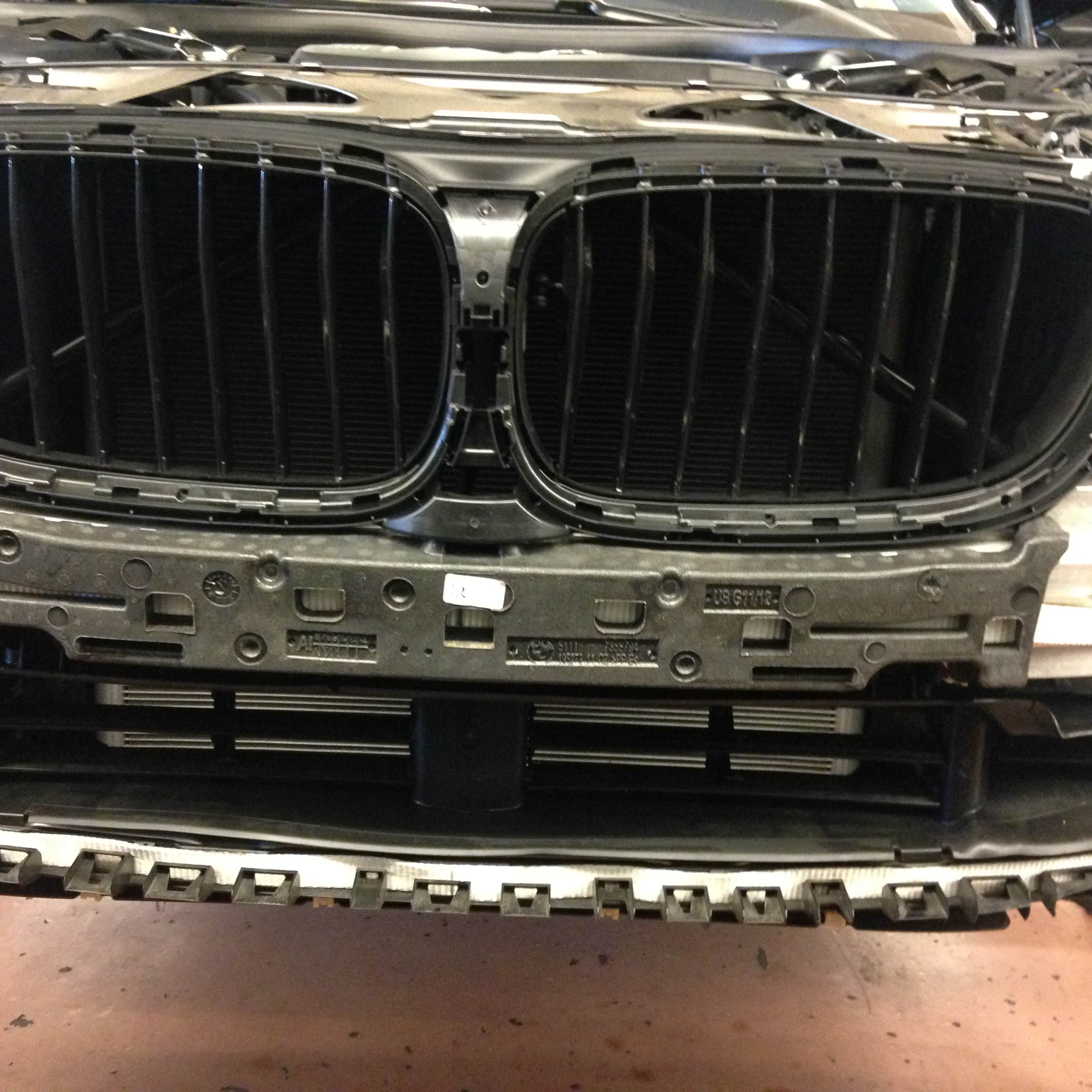 Design of a car radiator - I Know We Are Missing The Front Bumper And Kidney Grills I Already Removed Them On This G12 Car Came In With Check Engine Light Fault Was Radiator